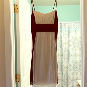 Size M brown and cream dress!